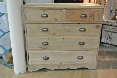 Vintage stripped pine chest of drawers