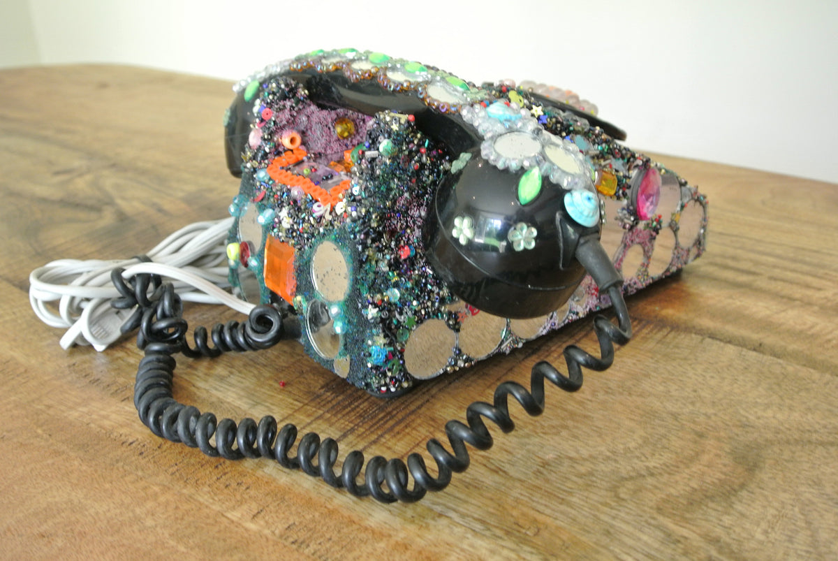 Vintage decorated telephone