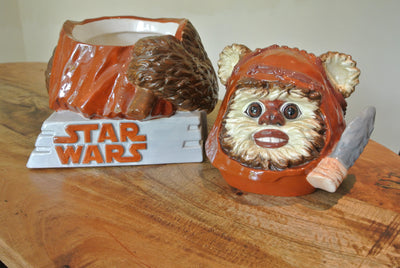 Star Jars Wicket the Ewok biscuit barrel