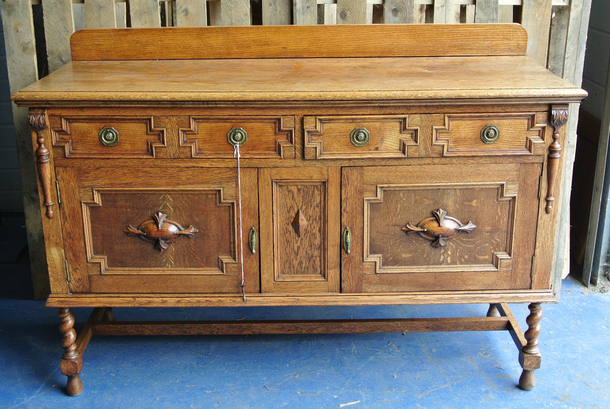 1930s oak sideboard