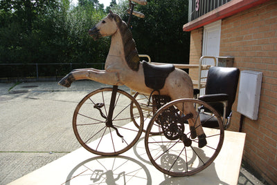 Antique horse tricycle