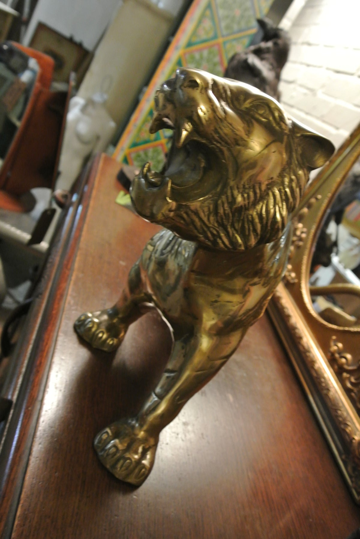 Large brass tiger