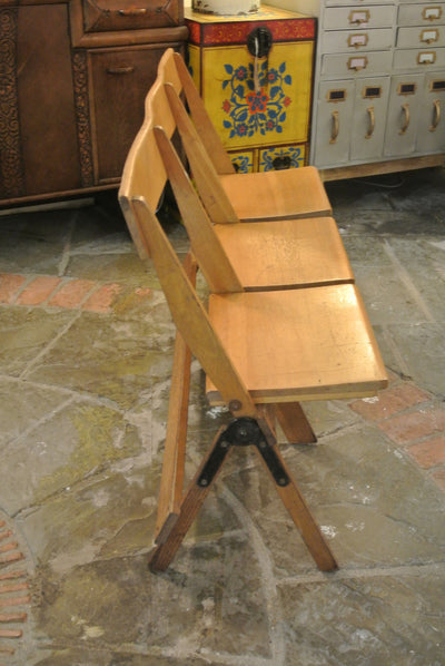 Vintage Church foldable seats (Set #1)