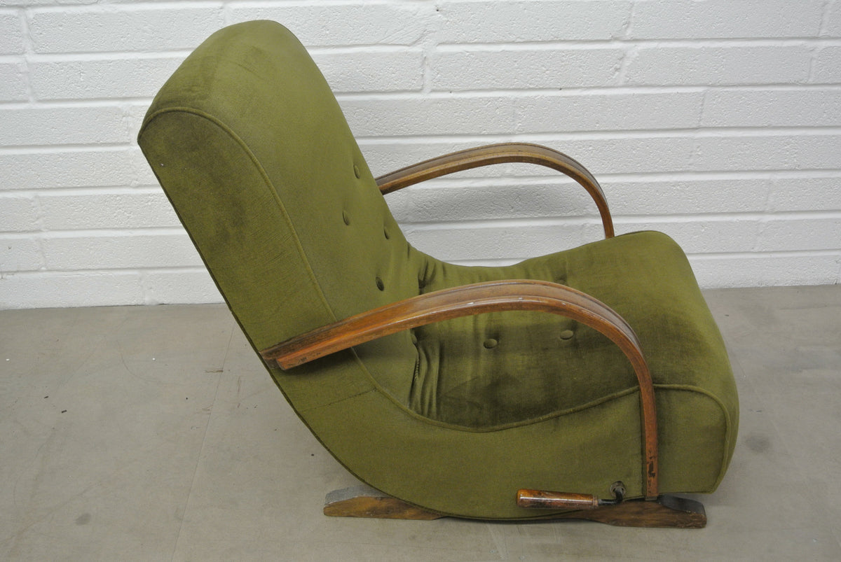 1930's bentwood banana rocking chair