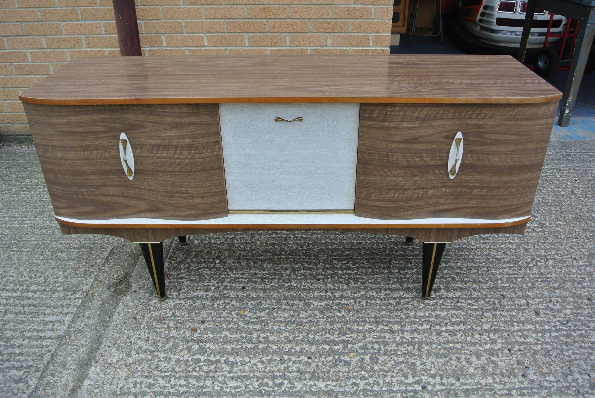 1950s/1960s Two-tone Formica Sideboard