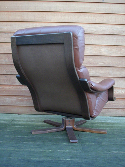 1960's Retro Danish Leather Armchair