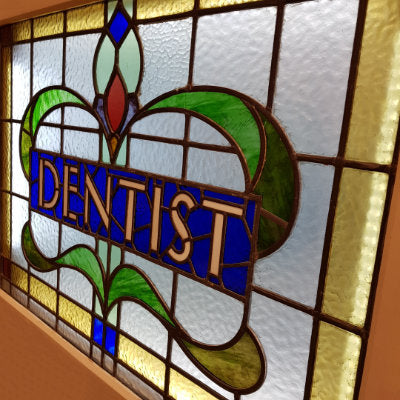 DENTIST Stained Glass Pane