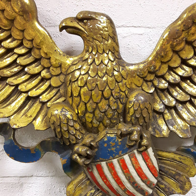 1950s American Eagle Wall Plaque Home Alchemy