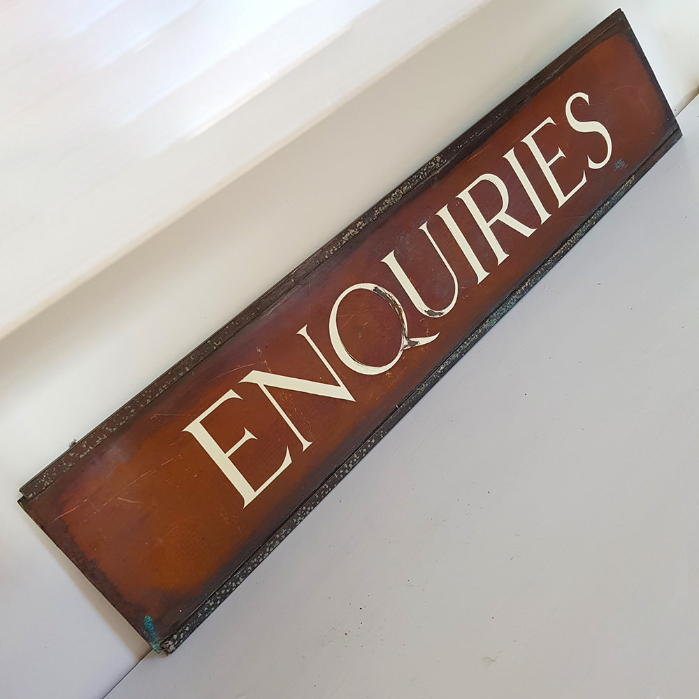 Enquiries Sign