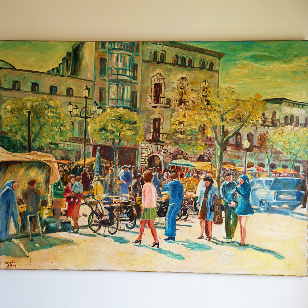 Oil Painting of a French Brocante