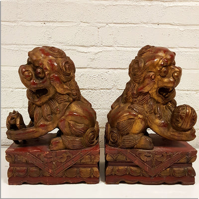 Carved Foo Dogs