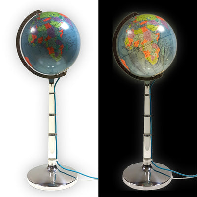 Floor Standing Illuminated Globe