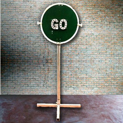 Cast Iron Stop/Go Sign