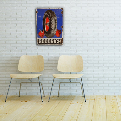 BF Goodrich Balloon Tyres enamel sign