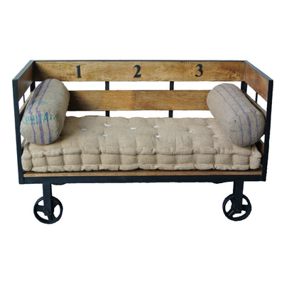Industrial Bench on Wheels