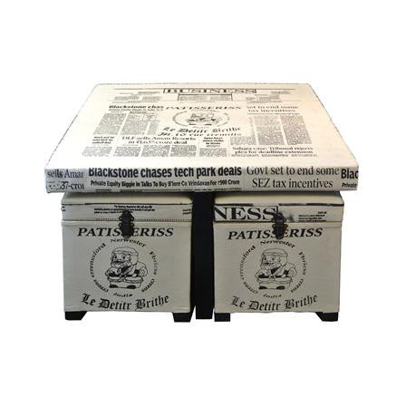 Newsprint Storage Stool