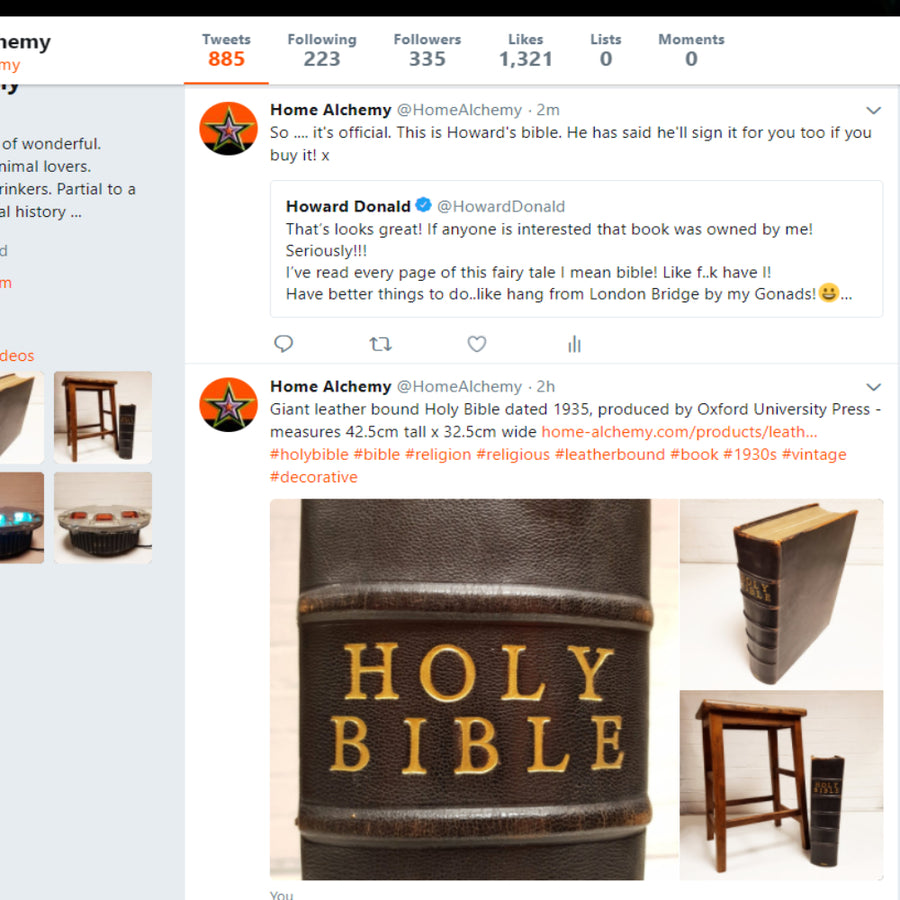 Howard's Leather Bound Bible