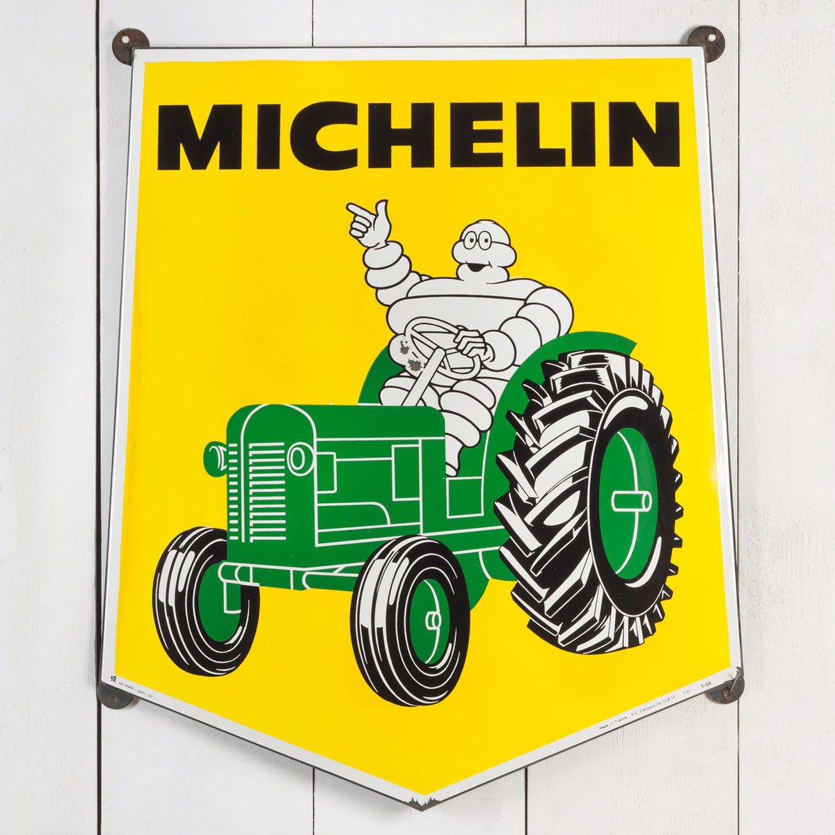 Michelin Tractor Tyres Enamel Sign