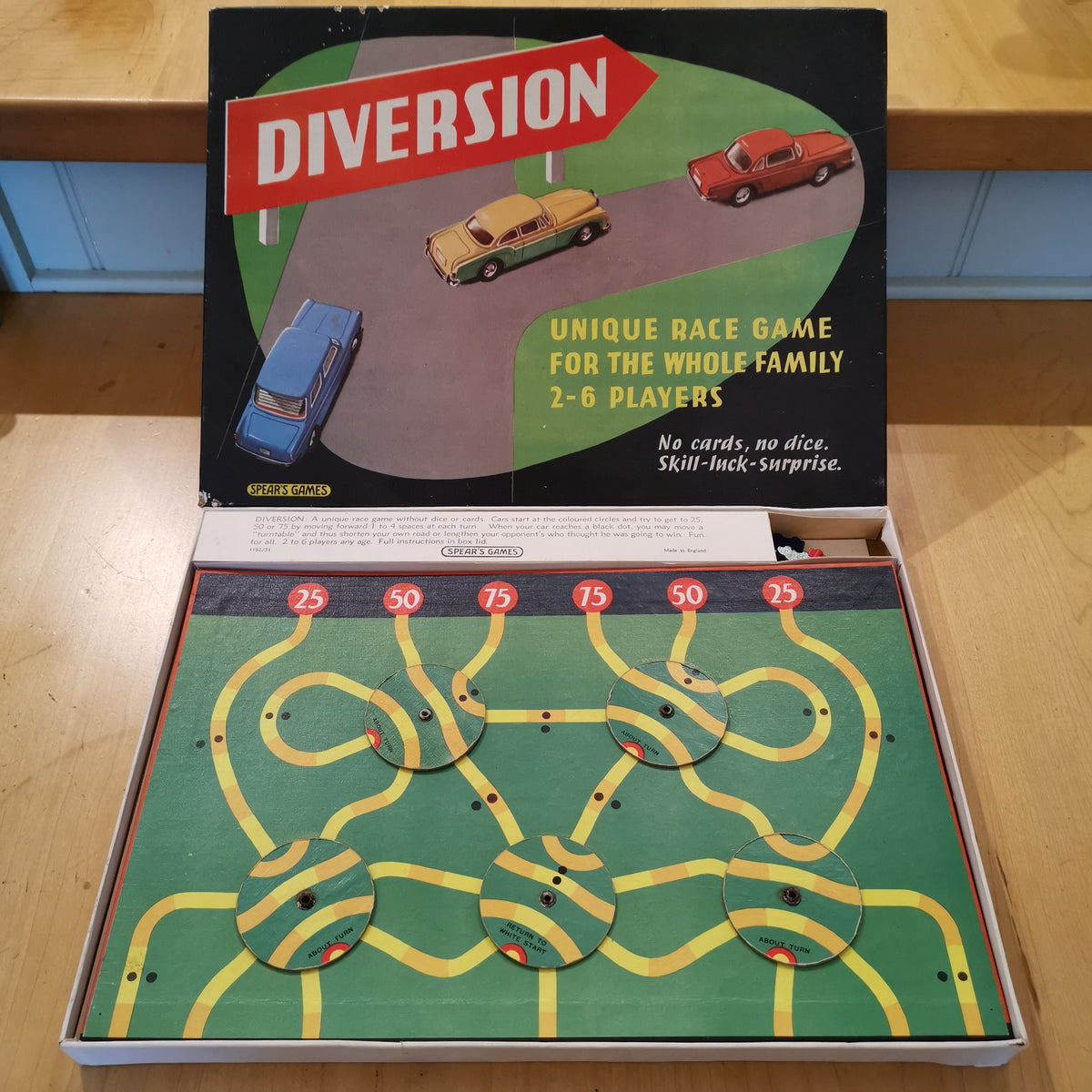 Diversion Vintage Motor Racing Board Game