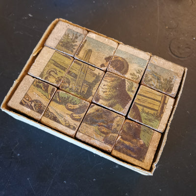 Vintage Wood Block Animal Puzzle
