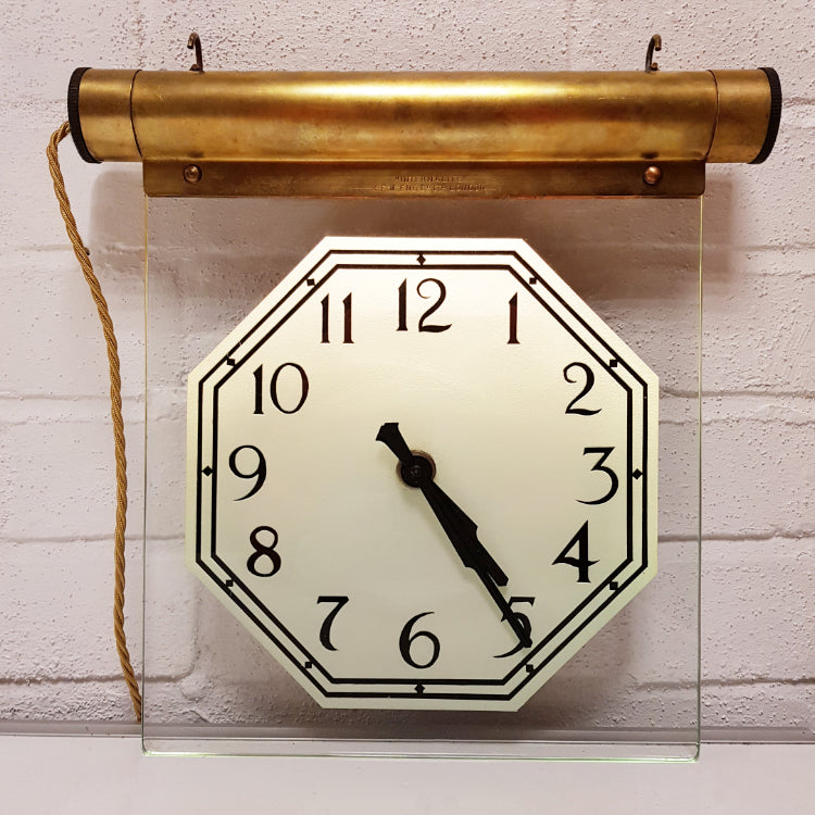 Internalite Hanging Glass Clock
