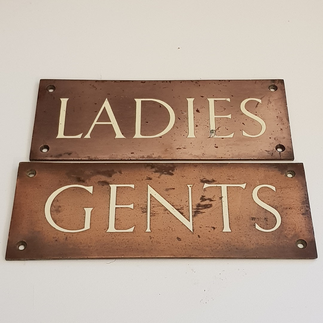 Ladies & Gents Bronze Signs