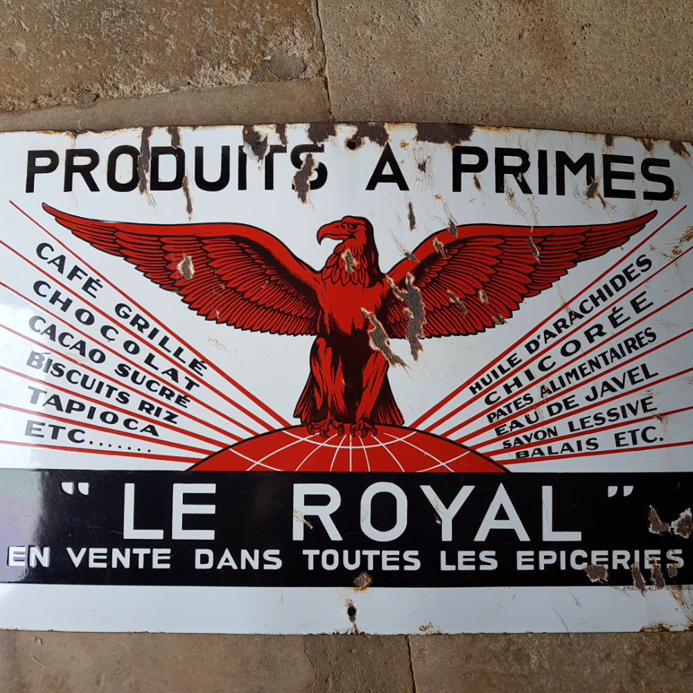 Le Royal Enamel Sign