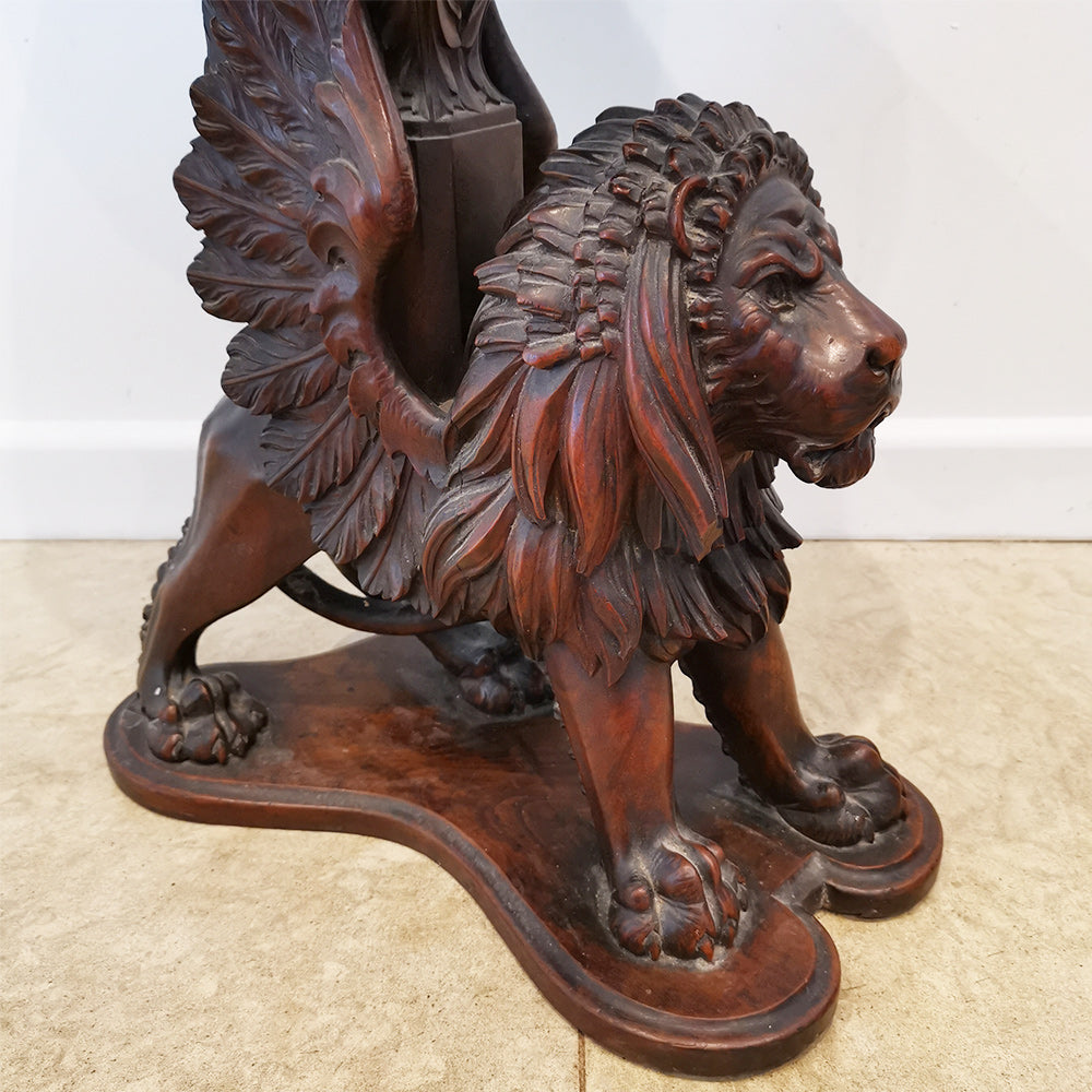Winged Lion Side Table
