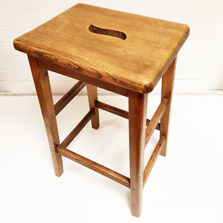 Oak Laboratory Stool