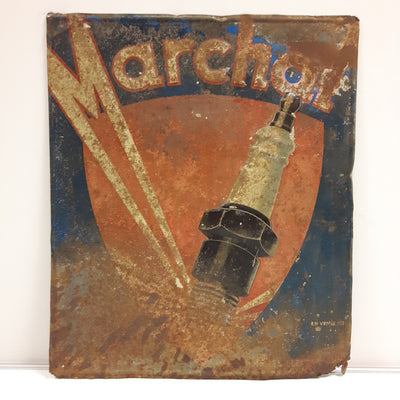 Marchal Embossed Tin Sign