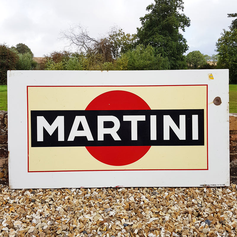 Martini Enamel Sign