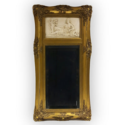 Gilt Framed Column Mirror