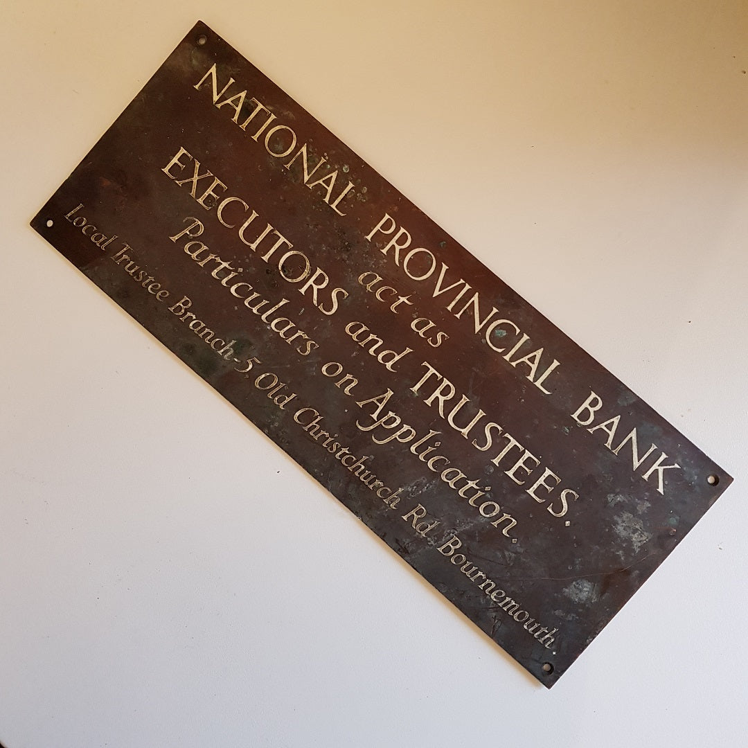 National Provincial Bank Sign