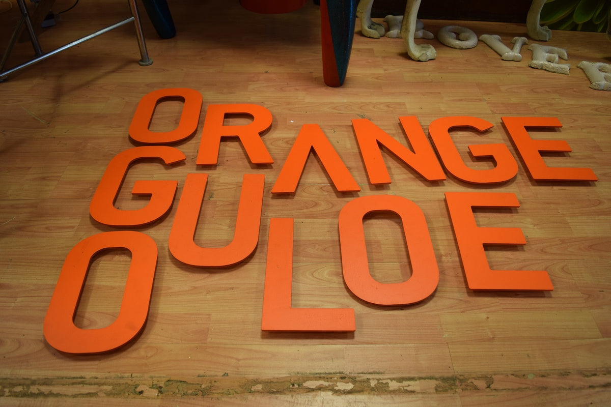 Orange Plastic Letter E