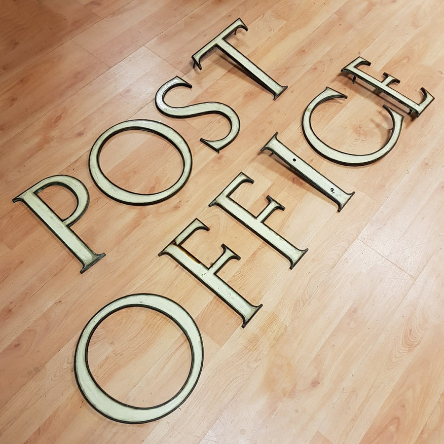 POST OFFICE Enamel Letters