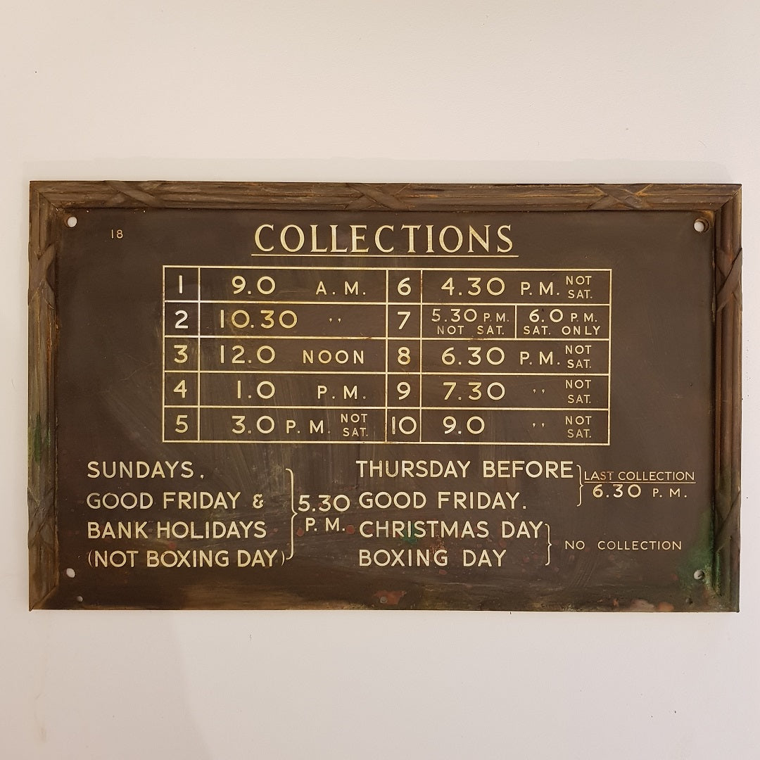 Postal Collections Sign
