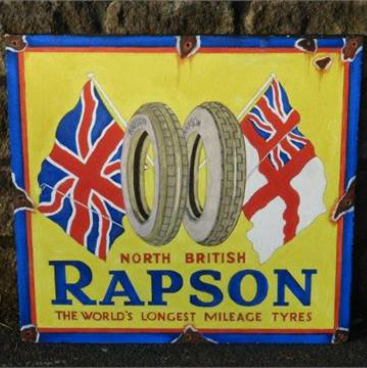 Rapson Tyres Handpainted Sign