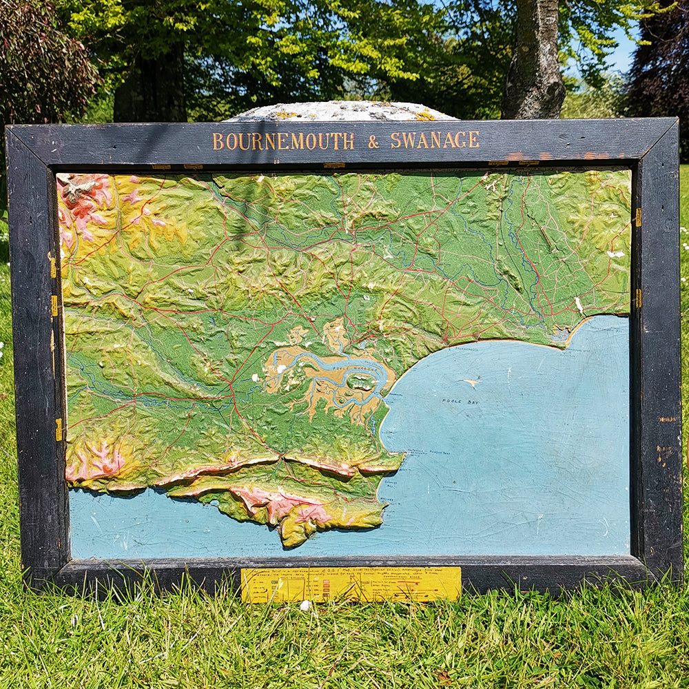 Bournemouth & Swanage Relief Map