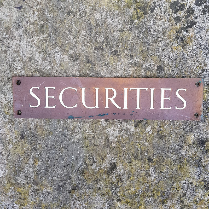 Securities Sign