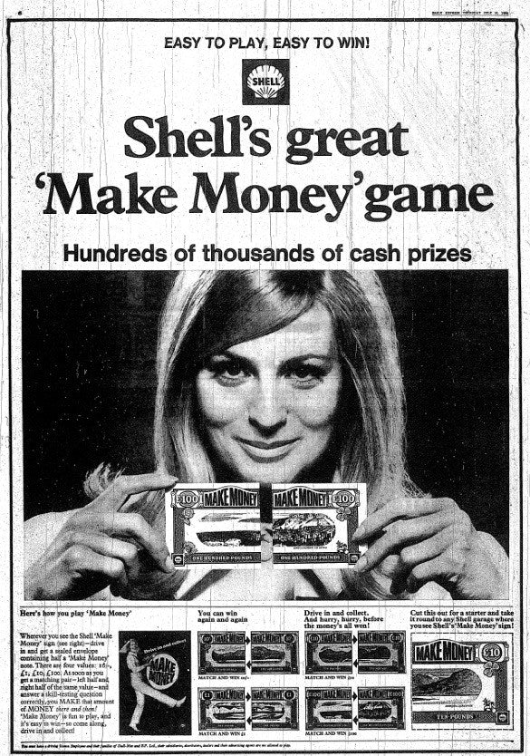 Shell Advertising Poster