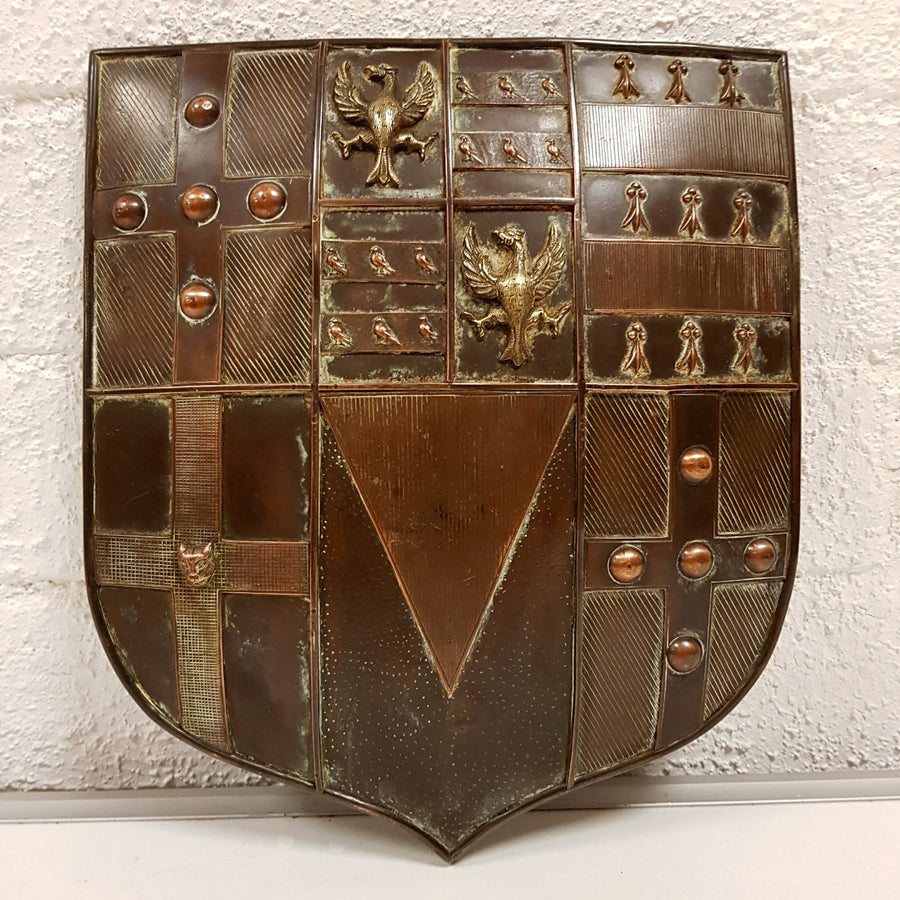 Brass and Copper Armorial Shield