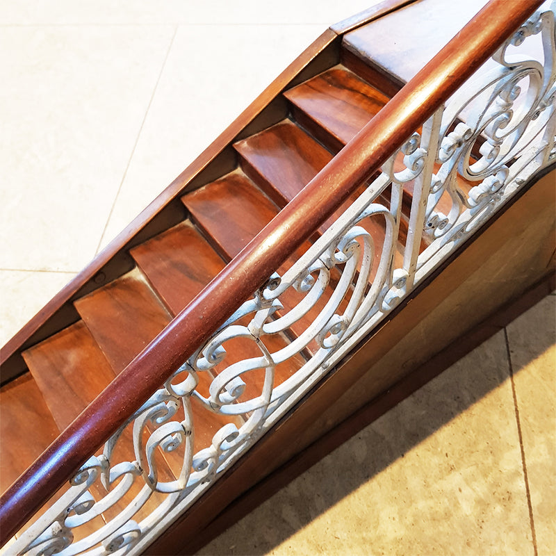 Staircase with Cast Iron Balustrade
