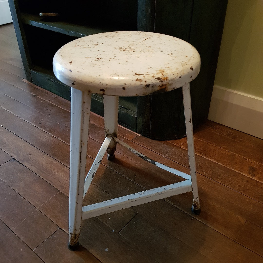 French Industrial Stool
