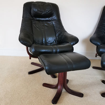 Pair of Leather Stressless Recliners