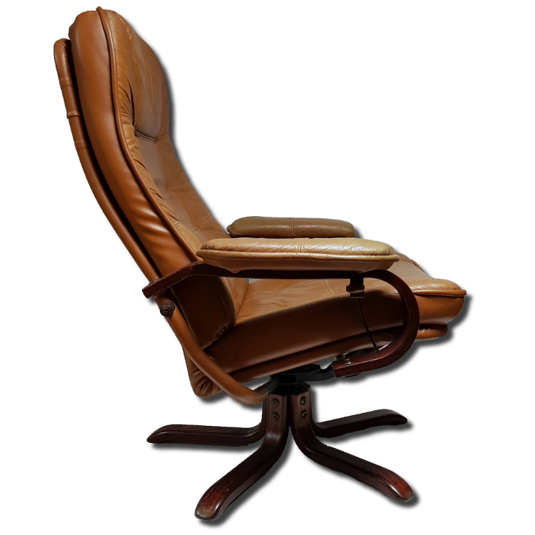 Leather Midcentury Reclining Chair