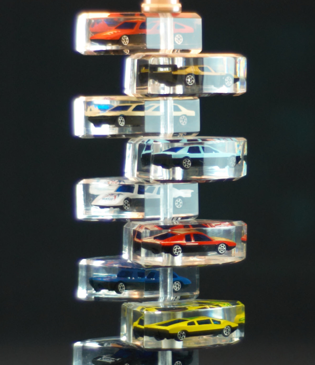 Lucite Toy Car Lamp