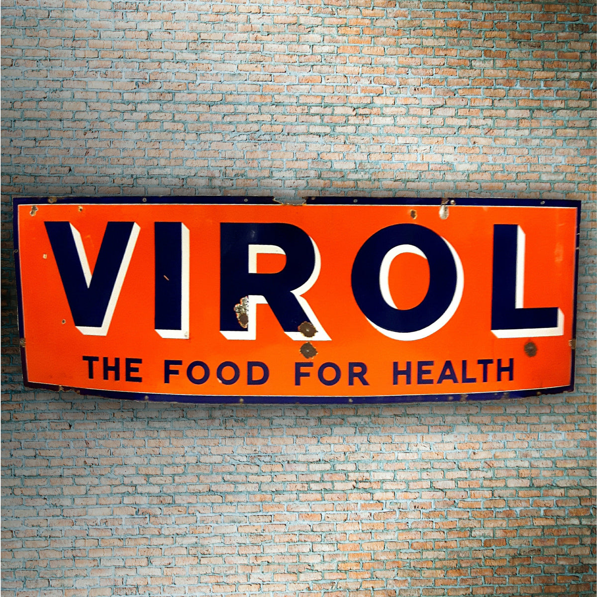 VIROL Enamel Sign