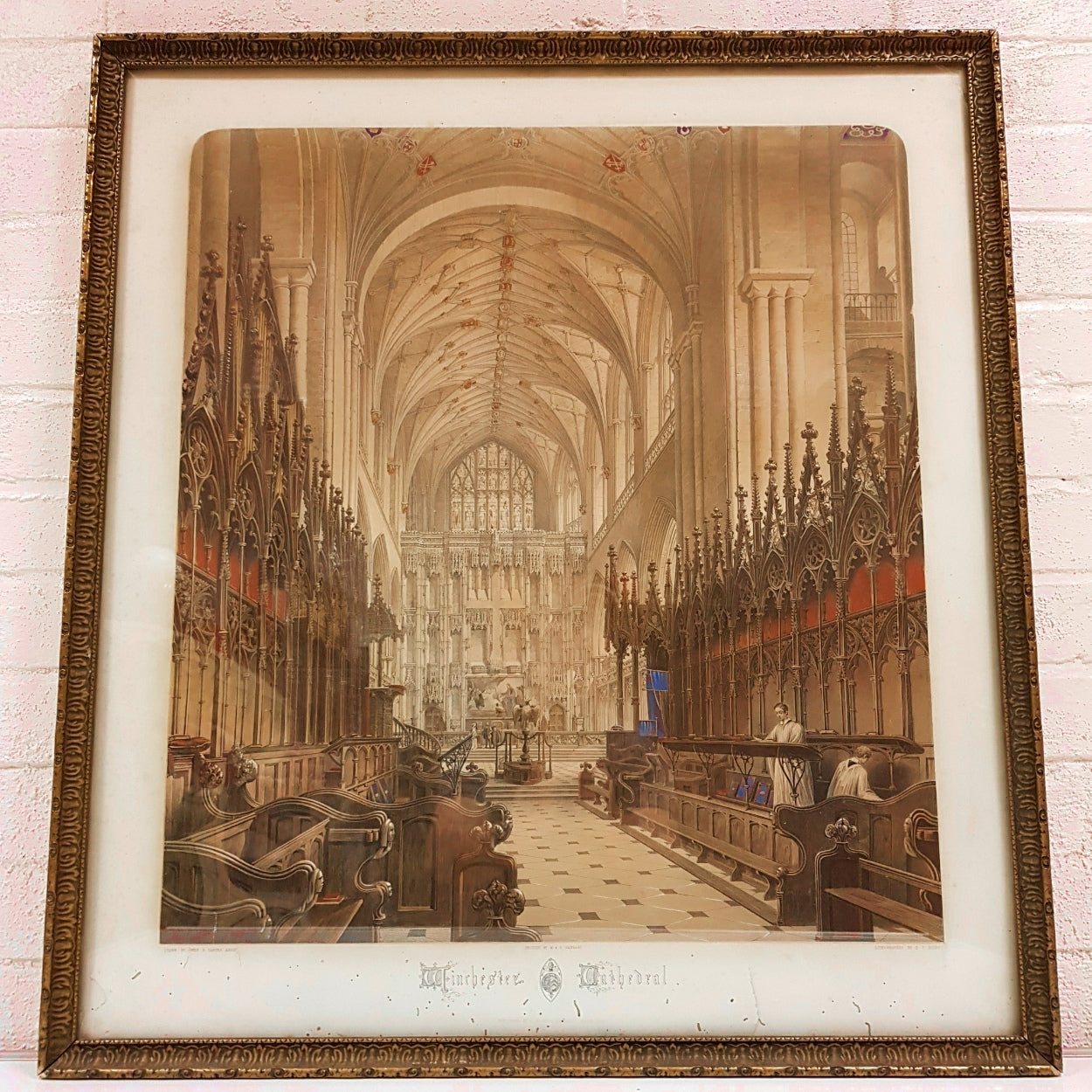 Winchester Cathedral Chromolithograph
