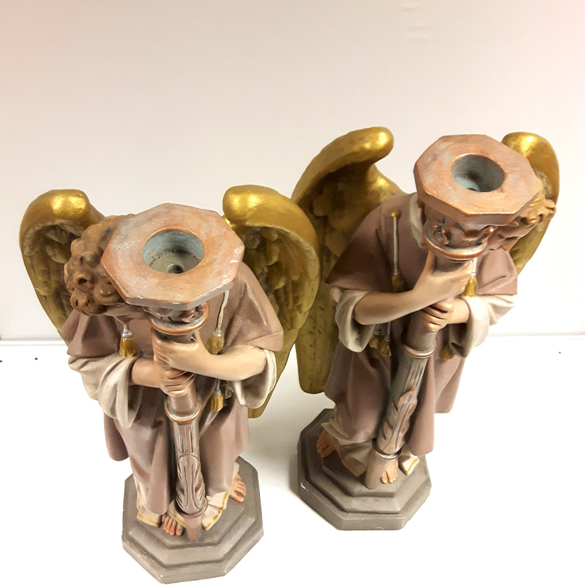 Huge Angel Candlesticks (Pair)