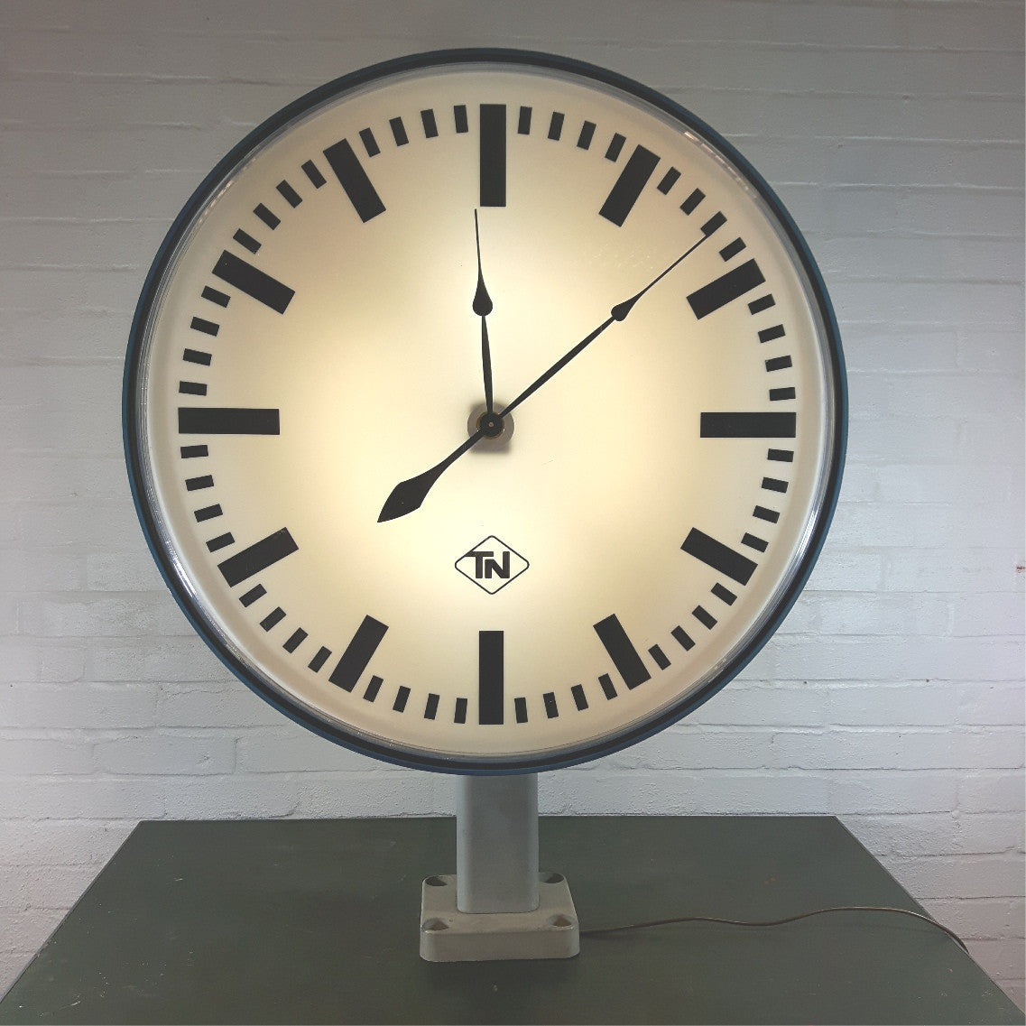 HUGE Double-Sided Station Clock